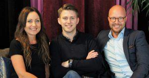 Från vänster: Maja Schneberger, Joel Klintenberg och Jimmy Klintenberg